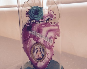 Blessed Heart  - Mixed Media Anatomical Heart