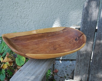 Vintage Wooden  Dough Bowl Oblong