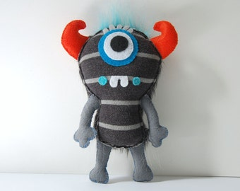 Trevor The Eco Friendly Plush Monster / Stuffed Toy Art