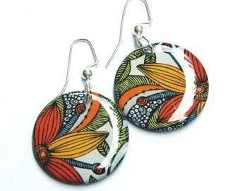 Floral Medium Resin Earrings