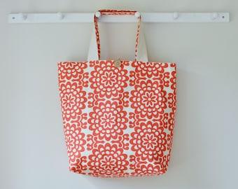 Roll Up Market Bag - Cherry Wallflower