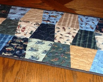 Fly Fishing Table Runner Quilt