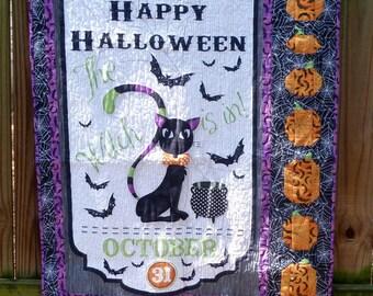 Halloween Scaredy Cat Quilt Blanket