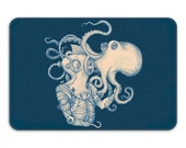 Deep Sea Discovery Memory Foam Bath Mat, Octopus Bathroom Rug - Printed in USA