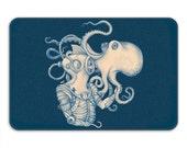 Deep Sea Discovery Memory Foam Bath Mat, Octopus Bathroom Rug - Printed in USA