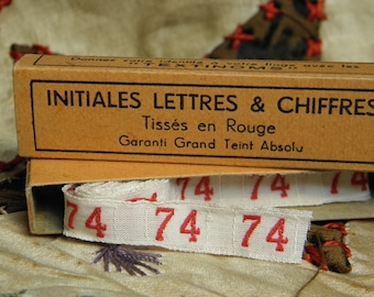 Vintage Trim French Letter Initial Trim Woven Tape