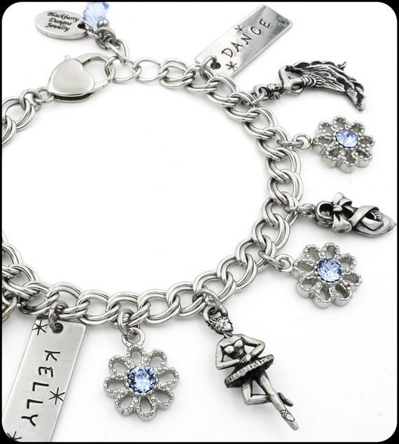 Ballet Charm Bracelet: Dance Bracelet Girls Jewelry Ballerina Jazz By