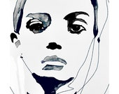 Vanquish - Fashion Illustration Portrait Art Print by Leigh Viner
