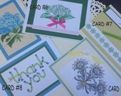 Collection of Hand-Sewn Beaded and Embellished Hand-made Blank Note Cards - You Pick your selection of 5 or 10 cards - We can Personalize