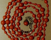 Hand knotted quality Czech glass, Swarovski crystal and solid brass beaded necklace