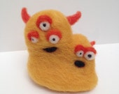 Robbie and Frank the Needle-felted Monster