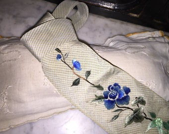 Vintage Cotton and Silk Tie