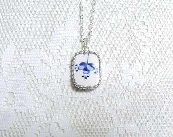 Broken China Jewelry Necklace Vintage China