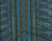 Vintage Jinny Beyer Blue Millennium Fabric  Border Print  by RJR
