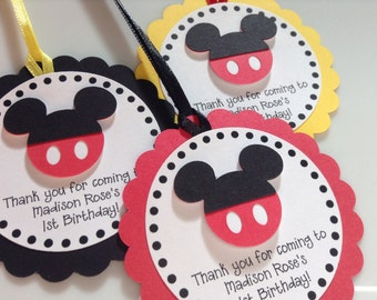 Mickey Mouse Tags (Set of 20)