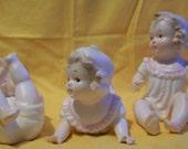 Three Baby Girl Piano Babies