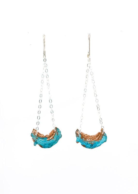 Crescent Blue Moon Earrings by Nancy Nelson