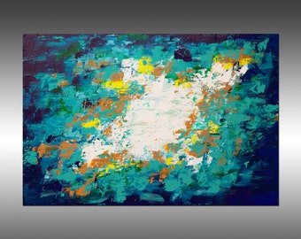 Original Abstract Painting, Canvas Wall Art Modern Art, Modern Painting, Paintings, Palette Knife, Portland, Oregon, Title: Envisioning 12