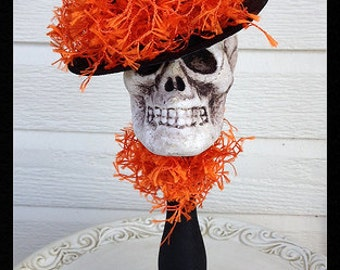 Halloween Decoration Skull on Candlestick Halloween Ornament Halloween Decor