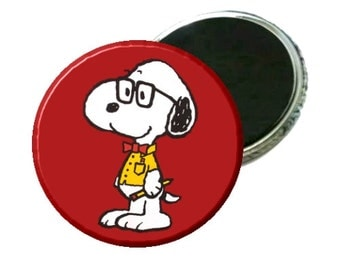 "Magnet - Peanuts Snoopy Nerd 2.25"" Image"