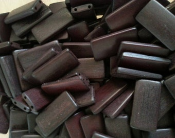 25 Black bamboo tiles