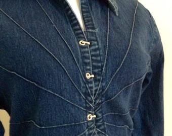 Vintage Denim Blue Jean Shirt