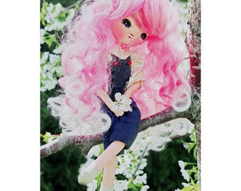 cherry doll print aceo size CHERRY BLOSSOM