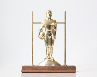 Vintage Football Trophy, Art Deco Style