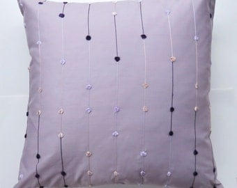 Lavender Throw Pillow Cover - Elegant Cushion Cover in Lavender and Purple - 16 x 16