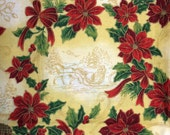 Christmas poinsettia fabric - 1 yard x 57 inches - extra wide VIP Cranston 2007
