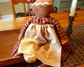 Primitive Gingerbread doll prim raggedy ginger