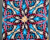 Polymer Clay Square Kaleidoscope Cane -'Perseverance' (22ee)