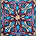 HALF PRICE SALE -Polymer Clay Square Kaleidoscope Cane -'Perseverance' (22ee)