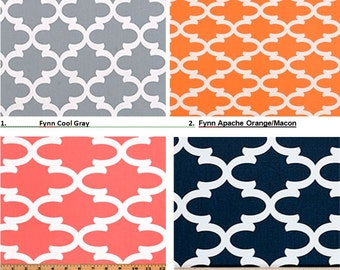 """Window Valance/Curved or Straight-LINED-Curtain-Kitchen-Bedroom-Bathroom-Dining-53""""x 16"""", 18"""", 20""""Gray-Navy-Coral-Apache Orange Macon"""