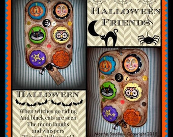 Apple Tree Cottage Original Design E Pattern - Halloween Friends