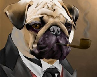 Canvas The Sophisticated Pug