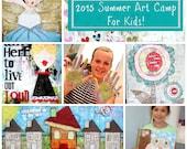 """Online Art Class """"2015 Summer Art Camp For Kids"""""""