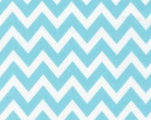Chevron Fabric, Cotton Fabric by the Yard, Remix fabric by Ann Kelle and Robert Kaufman - Remix Medium Chevron in Aqua. You choose the cut