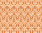 SALE Happy Haunting Halloween fabric by Riley Blake Designs - Happy Haunting Damask in Orange- Fat Quarter, Half Yards or Yardage
