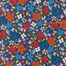 Sale fabric, Floral fabric, Cherry Blossom Garden fabric by Robert Kaufman- Floral in Bright (navy)- Choose the Cut. Free Shipping Available