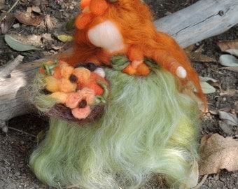 Felted Waldorf Fairy - Autumn Harvest Maiden  Wool Art Doll Fairy by Rebecca Varon