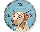 Special Edition: Labrador USA Round Clock