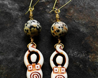 African Earrings, Goddess Earrings, Fertility Goddess Earrings, For Her, Earth Goddess African Fertility Goddess Earrings