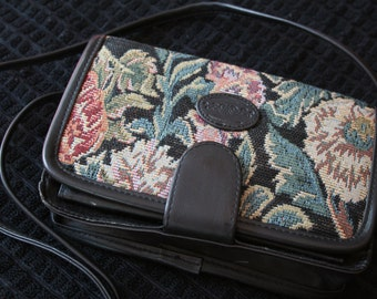 Vintage Floral Tapestry Purse made by Gitano, 1980s
