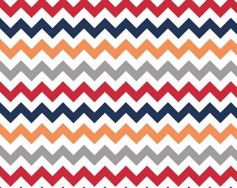 SALE Chevron Medium Stripe Boy Cotton Fabric