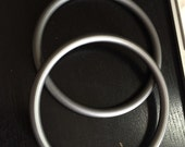 "Pair of Large Grey 3"" Aluminum Ring to make Your Own Ring Sling"