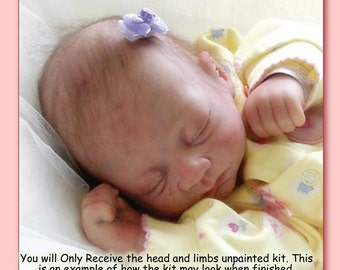 """Reborn Baby KIT Only Unpainted Unassempled 17"""" Taffy Kit Head, and Limbs. Art Doll, Reborn Girl or Boy"""
