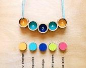 Customizable Pendulum Necklace . Wooden Necklace . Personalize .  Customize