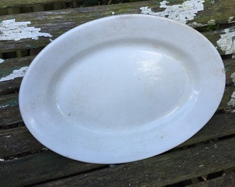 Antique Ironstone China Meakin Brothers and Co. Well Loved Oval Platter