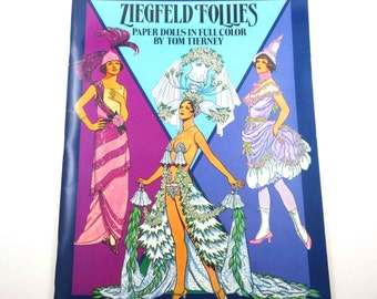 Ziegfeld Follies Paper Dolls Vintage 1980s Dover Paper Doll Book for Children by Tom Tierney